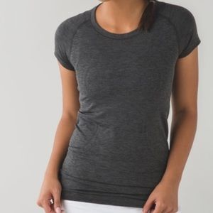Lululemon Swiftly Tech Grey Heathered Shirt Size 4